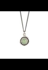 Pyrrha Pyrrha-Faceted Green Prehnite-LG