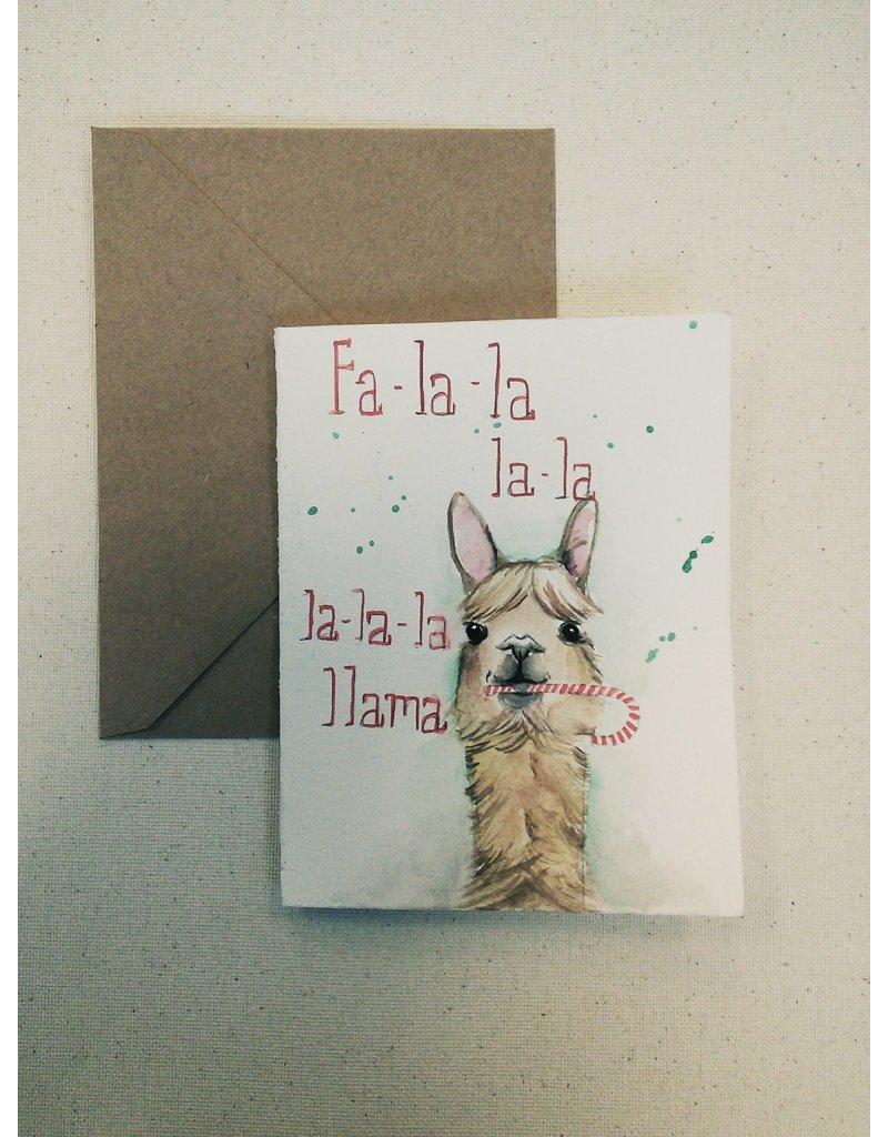 Colour Me Jenny Colour Me Jenny-Xmas Card Llama