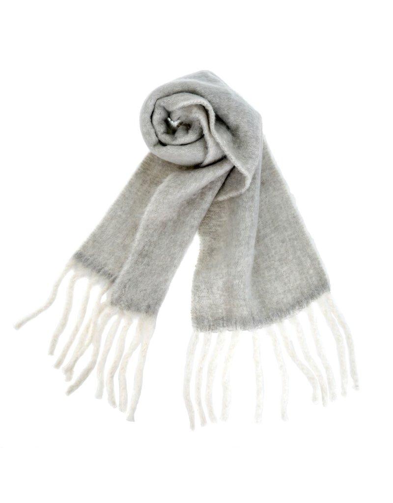 Indaba Trading Inc Fringed Blanket Scarf-Grey