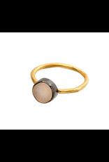 Indaba Trading Inc Stonegold Ring White Druzy-8