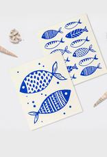 Abbott Abbott-Blue Fish Dishcloths
