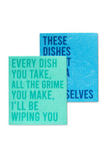 Abbott Abbott-Funny Text Dishcloths