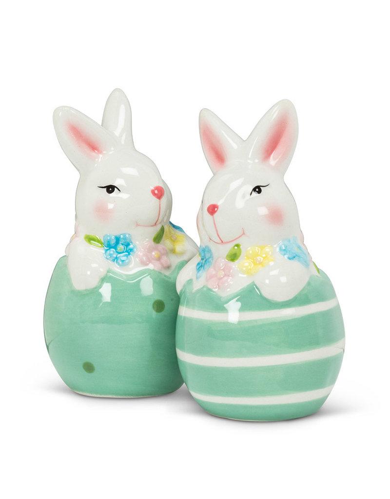 Abbott Abbott-Bunny In Egg-Salt&Pepper