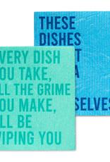 Abbott Abbott-Funny Text Dishcloths