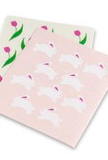Abbott Abbott-Bunnies & Tulpis Dishcloths