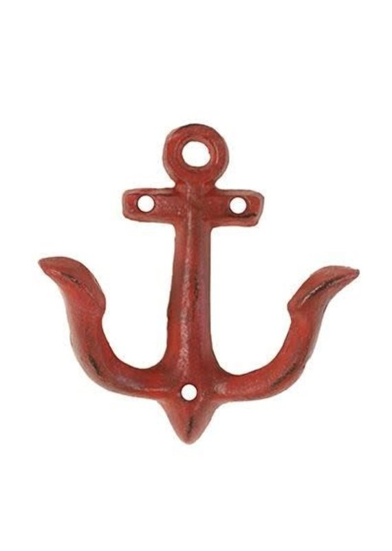 North American Country Home NACH-Anchor Hook-Small -Red