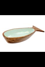 Indaba Trading Inc Pesca Serving Bowl-Aqua