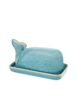 Indaba Trading Inc Wild Whale Butter Dish-Turquoise
