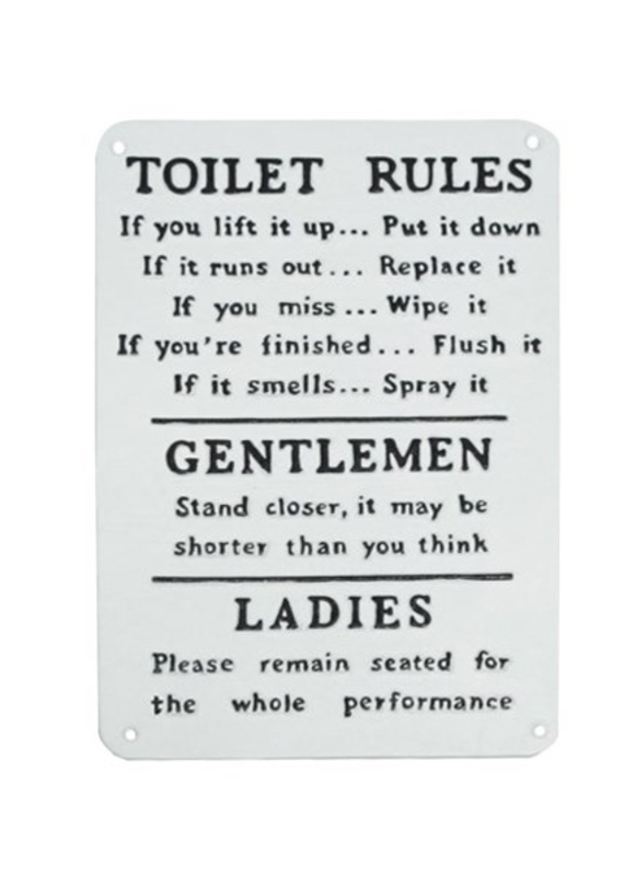 North American Country Home NACH-Toilet Rules