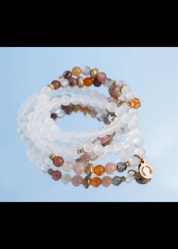 HEN Jewelry Tawny Bracelet-Frosted Quartz
