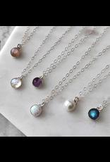 Strut Jewelry Strut-Gemstone Necklace-Sterling Silver