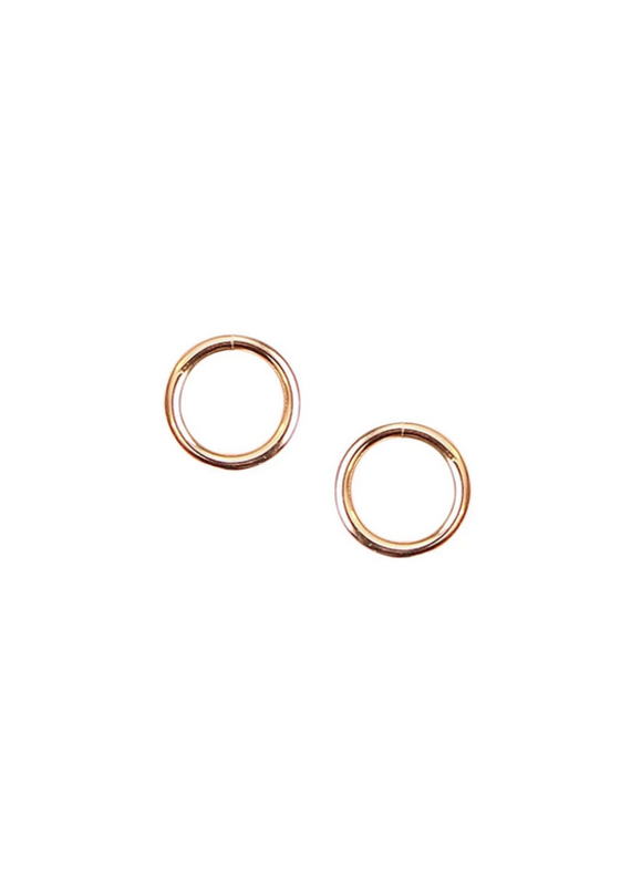 Strut Jewelry Circle Studs -14K GF