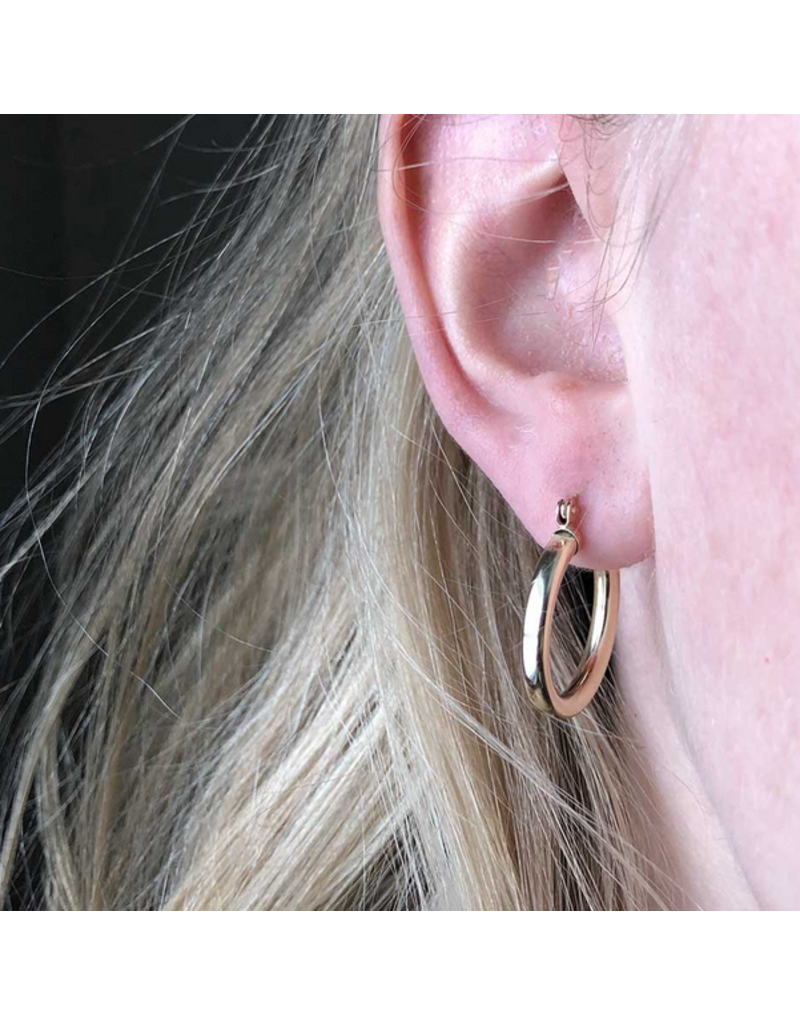 Strut Jewelry Thick Hoops-14K Gold Fill