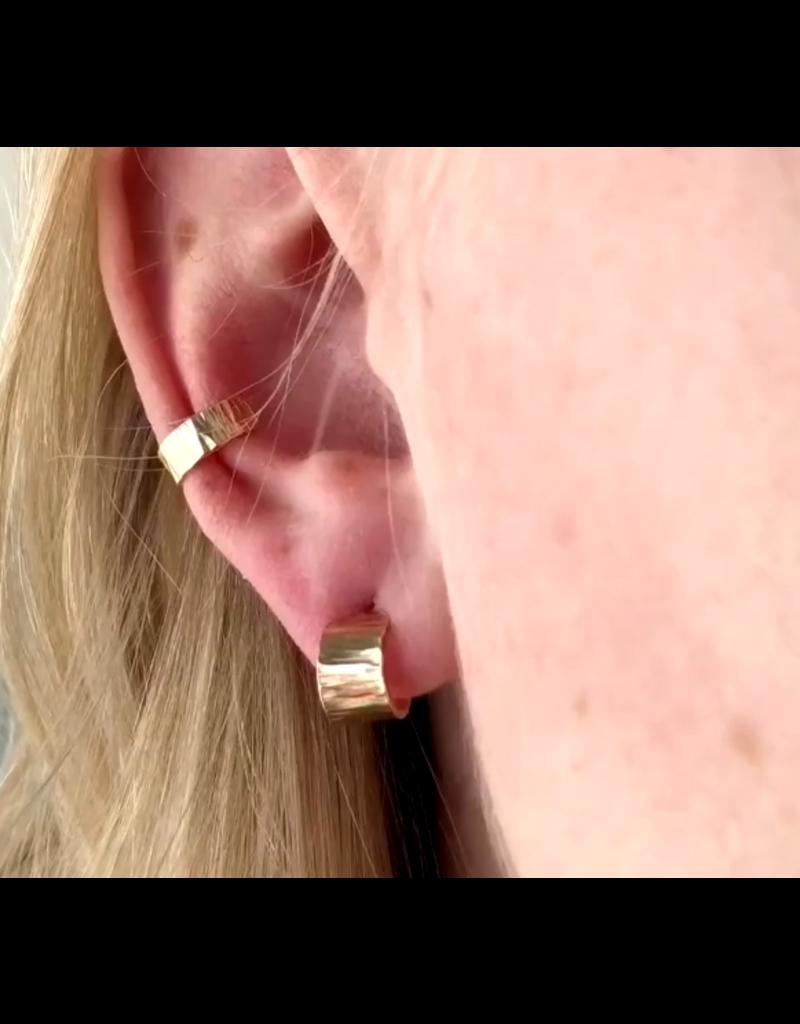 Strut Jewelry Mini Wide Hoops-14K Gold Fill