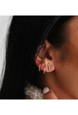 Strut Jewelry Twist Sleeper Hoop-Gold Fill