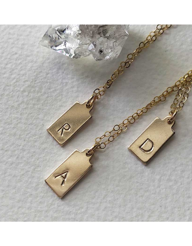 Strut Jewelry Initial Tag Necklace-14K Gold Fill