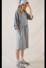 Eve Gravel Farrow Dress-Steel Blue