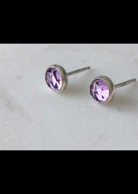 Strut Jewelry Gemstone Stud Earrings - Amethyst