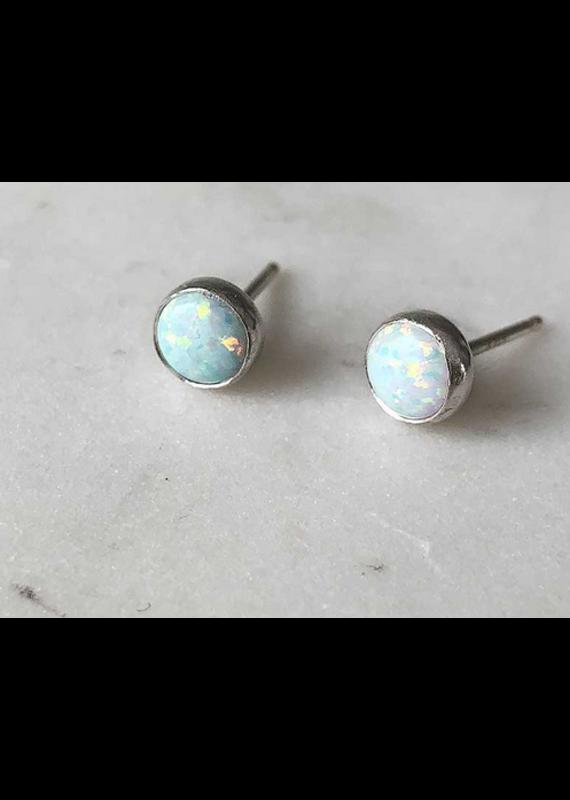 Strut Jewelry Gemstone Stud Earring-Opal