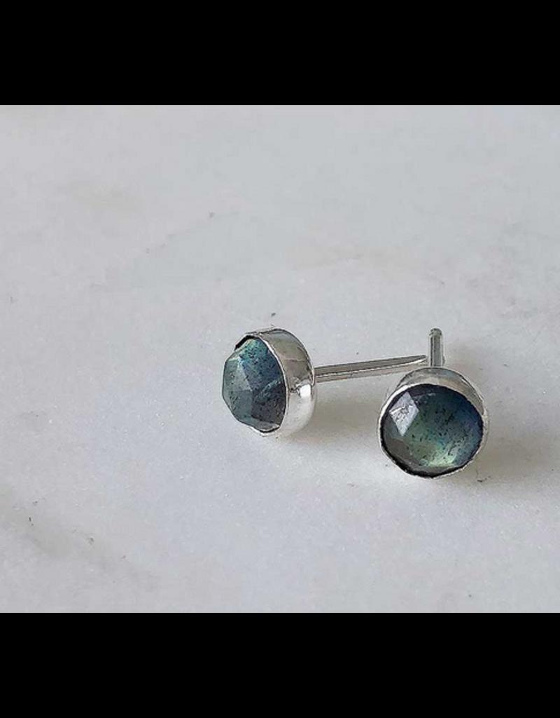 Strut Jewelry Gemstone Stud Earring-Labradorite