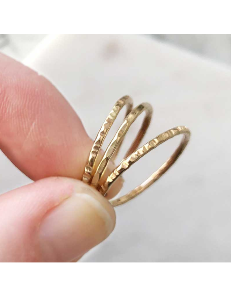 Strut Jewelry Gold-Fill Stacking Ring