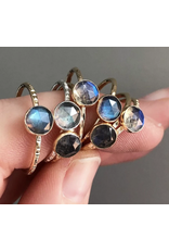 Strut Jewelry Labradorite Stacking Ring-Sterling Silver