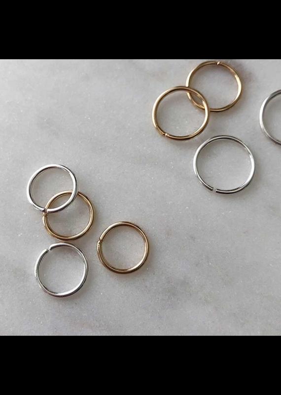 Strut Jewelry Sleeper Hoop-Sterling Silver