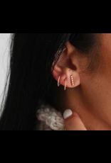 Strut Jewelry Twist Sleeper Hoop-Sterling Silver