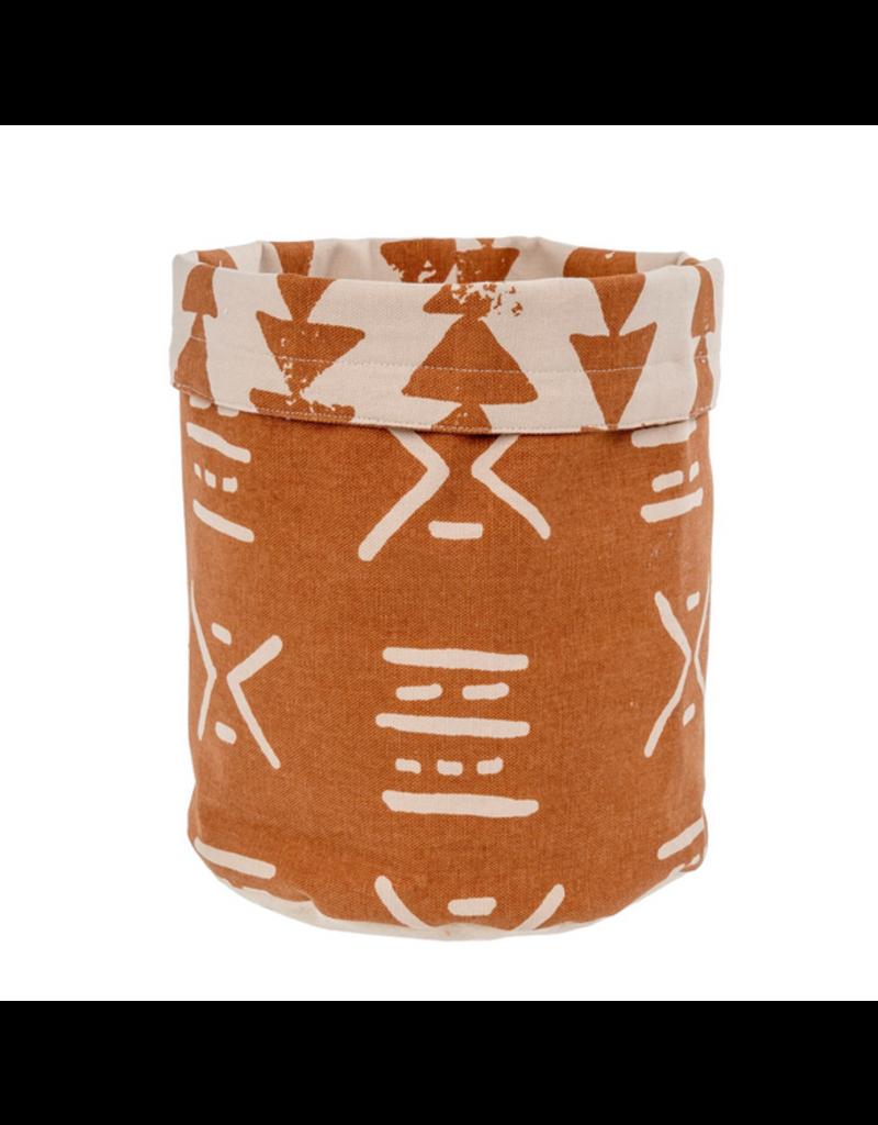 Indaba Trading Inc Fabric Basket-Terracotta