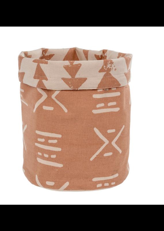 Indaba Trading Inc Fabric Basket-Dusty Rose