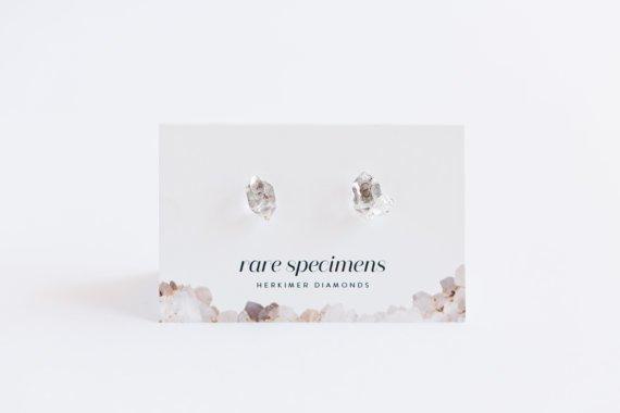 Rare Specimens Rare Specimens-Herkimer Diamond Stud
