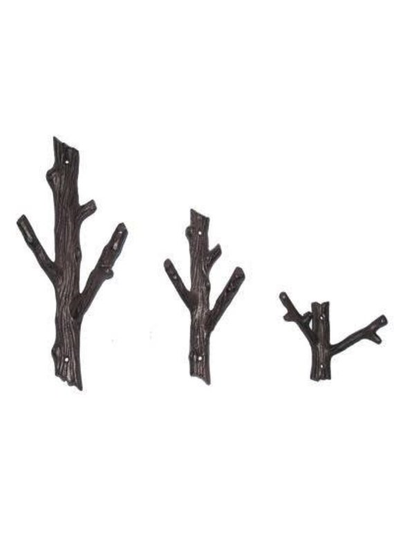 North American Country Home NACH-Large 2 Branch Hook- Black