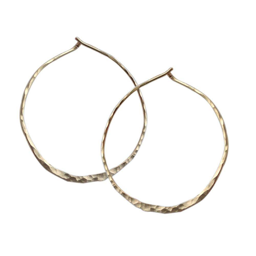 Strut Jewelry Strut-Hammered Hoops