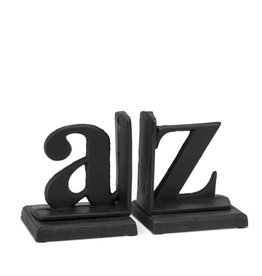 Abbott Abbott-A to Z Bookends-Blk