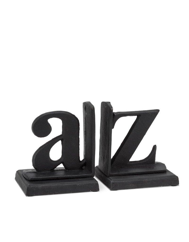 Abbott Abbott-A to Z Bookends-Blk