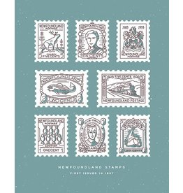 Jud Haynes Jud Haynes-NFLD Stamps Print-8x10