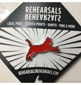 Jud Haynes Rehearsals-Cat Enamel Pin