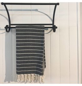 One Sky Inc. One Sky-Bamboo Hamam Towel- Black