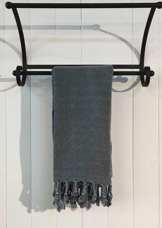 One Sky Inc. One Sky-Bamboo Hamam Towel- Stonewash Black