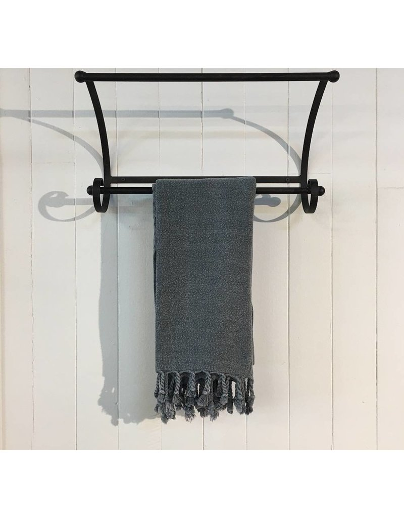 One Sky Inc. One Sky-Bamboo Body Hamam Towel- Stonewash Black