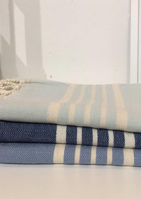 One Sky Inc. One Sky- Five Stripes Towel- Shades of Blue