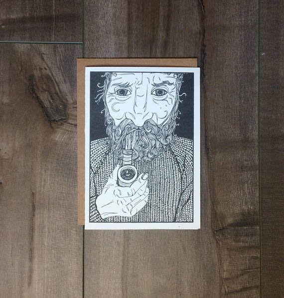 Kaila Erb Art&Illustration Kaila Erb-Old Man Card-5x7