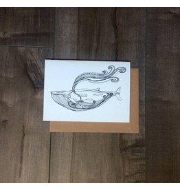 Kaila Erb Art&Illustration Kaila Erb-Whale Card-5x7