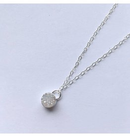 Strut Jewelry Strut-Bezel Set Druzy Pendant Necklace