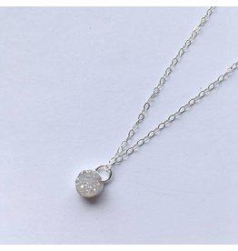 Strut Jewelry Strut-Bezel Set Druzy Pendant Necklace