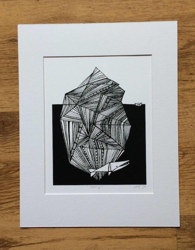 Kaila Erb Art&Illustration Kaila Erb-Iceberg-Matted-11x14