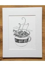 Kaila Erb Art&Illustration Kaila Erb-Storm's a Brewin-Matted-11x14
