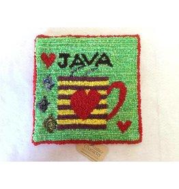 Newfoundland Original Hooked Rugs Paula Flood-Rug Hooking Java Coffee