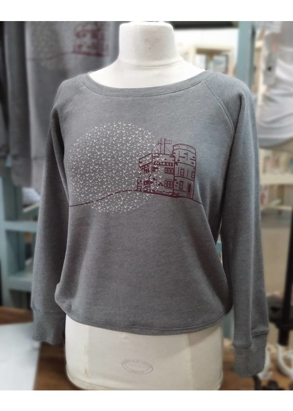 Twisted Sisters boutik Twisted Sisters-Cabot Tower-Wide Neck Sweatshirt