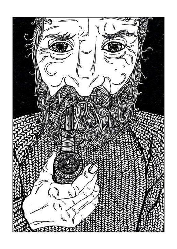 Kaila Erb Art&Illustration Kaila Erb-Old Man and the Sea